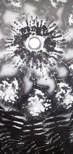 «Main»dala, acrylique sur bois, acrylique sur bois, 24 x 48 po. (60 x 120 cm), 2016